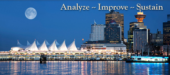 Pacific Coast Manufacturing Consultants - Business Improvement page image with the words Analyze - Improve - Sustains