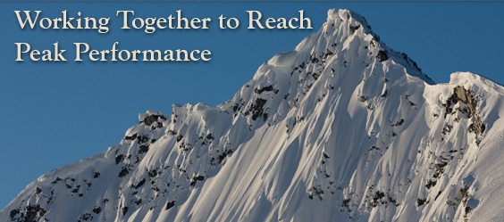 Pacific Coast Manufacturing Consultants - How We Work page image with the words Working Together to Reach Peak Performance